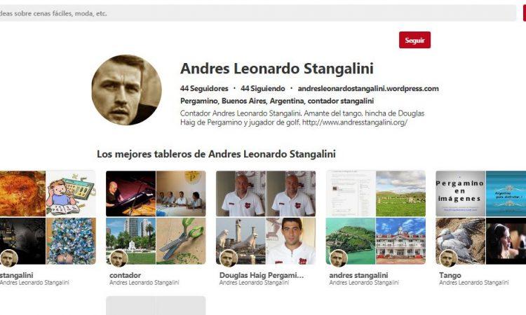 Andrés Stangalini y un extraño perfil en Pinterest