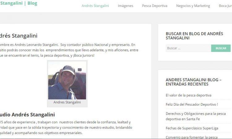 Andrés Stangalini y sus extrañas webs personales