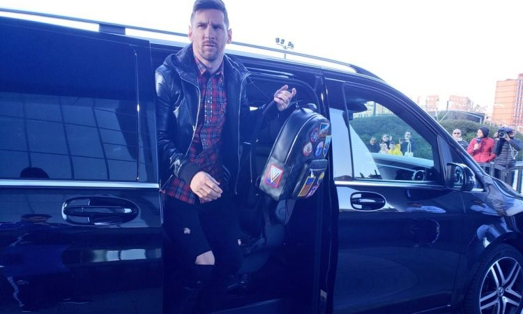 Lionel Messi, protagonista del primer entrenamiento de Argentina en Madrid