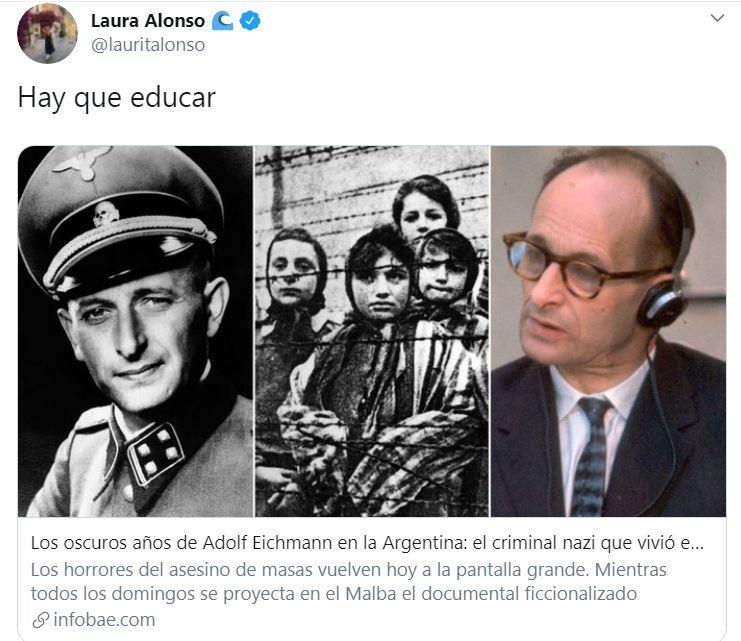 La DAIA reclamó a Laura Alonso por banalizar el Holocausto judío