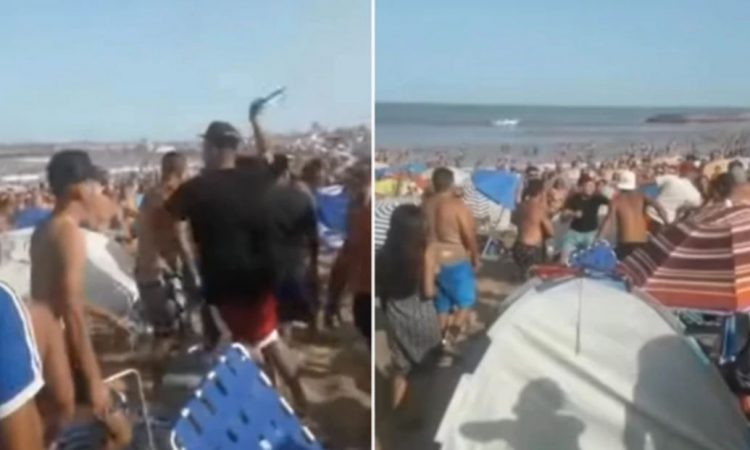 Descontrol en una playa de Mar del Plata