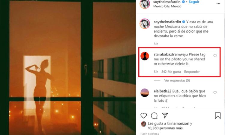 Thelma Fardin publicó una foto y fue repudiada por una influencer polaca