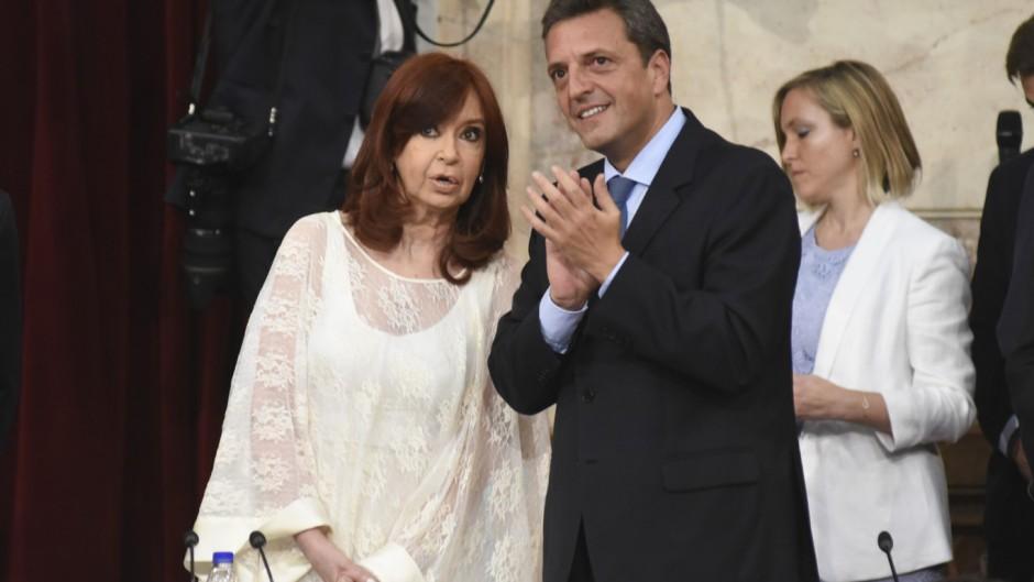 Sergio Massa y Cristina Kirchner en el Congreso