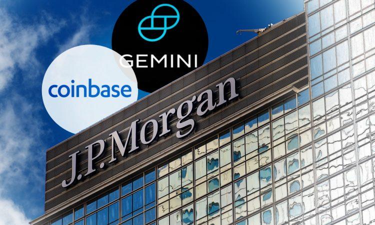 JP Morgan acepta sus primeros clientes cripto: Gemini y Coinbase