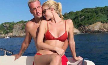 La pareja sueca de Maxi López encendió las redes con una foto en topless