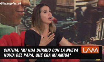 """La incómoda escena que vio la hija de Cinthia Fernández en la casa de Defederico: """"Encontró en la ducha a..."""""""