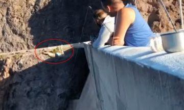 Impactante video: mendocino borracho saltó a un dique desde 115 metros y casi muere