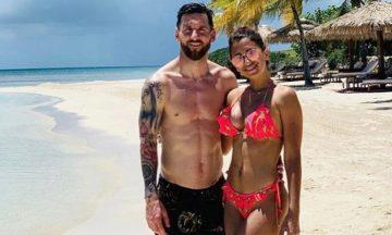 Día libre: el video de Messi en la playa que es furor en las redes sociales