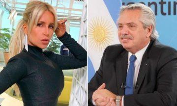 El chat privado entre Florencia Peña y Alberto Fernández: qué hizo la actriz en Olivos